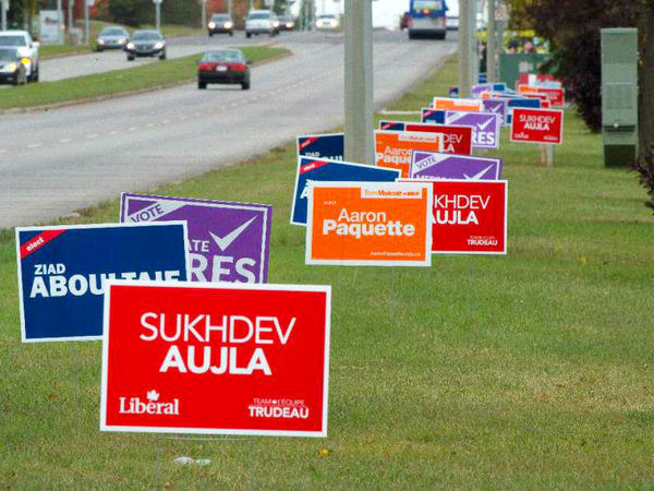 Lawn signs Toronto