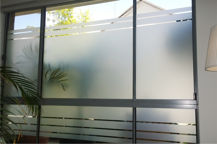 Frosted Glass Door